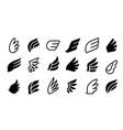 wing logo minimal eagle bird logotypes phoenix vector image vector image