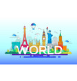 world - line travel vector image vector image
