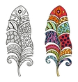 Zentangle stylized tribal color and monochrome vector image vector image