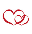 abstract design symbol of love vector image
