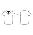 Blank front and back polo t-shirt design template vector image