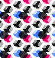 technology cubes seamless pattern with grunge vector image