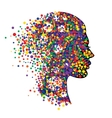 Woman head isolated on white background Abstract vector image