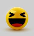 3d smiling ball sign emoticon icon design vector image vector image