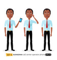 african american male call center operator vector image