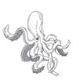 an octopus painted in an vector image vector image