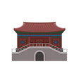 ancient temple in hong kong traditional chinese vector image
