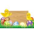 blank easter sign vector image