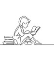 boy studing with reading book vector image