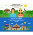 Cambodian Culture 2 Horizontal Banners Set vector image vector image