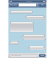 Chat template vector image vector image