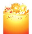 citrus splash verticall background vector image
