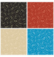 color seamless patterns with bitcoins vector image