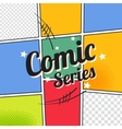comic template element with speech bubble halftone vector image vector image