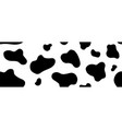 cow seamless pattern long abstract vector image