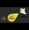 cute ghost character just found the happy vector image vector image