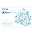 digital technology landing page isometric vector image vector image