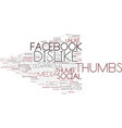 dislike word cloud concept vector image vector image