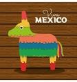donkey pinata mexican carnival design vector image