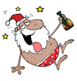 Drunk African American Santa Clause vector image vector image