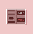 fashion patch sale sticker booklet vector image vector image