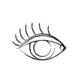figure vision eye with eyelashes style design vector image vector image