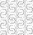 Flat gray with broken hexagons vector image vector image