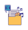 folder with objects isolated icon vector image