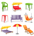 Garden furniture icon set vector | Price: 3 Credits (USD $3)
