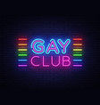 gay club neon sign gay club design vector image vector image