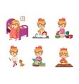 girls activities collection vector image