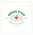 green food emblem 2 vector image