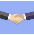 Handshake - business flat vector image vector image