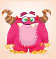 Happy cartoon monster Halloween vector image