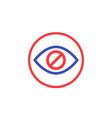 hide hidden content icon vector image vector image