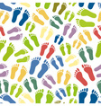 human colorful footprints simple seamless pattern vector image vector image