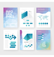 infographics brochure blue poly world vector image vector image