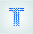 letter t logo halftone icon vector image vector image