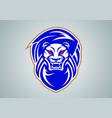 lion-head-modern-abstract-logo-football vector image