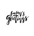 merry christmas card calligraphy seasons greetings vector image