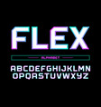 modern professional alphabet with latin vector image vector image