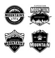 mountains camping and outdoor adventure set of vector image vector image