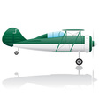 old retro airplane vector image vector image