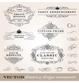 Ornament Frames Set vector image
