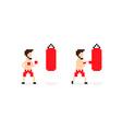 Pixel Boxer vector image vector image