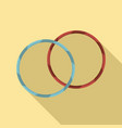 rhythmic gymnastics hoop icon flat style vector image vector image