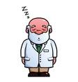 Scientist sleeping and snoring vector image vector image