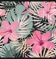 seamless floral summer pattern background vector image vector image