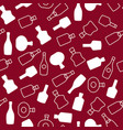 seamless pattern with color wine bottles vector image vector image