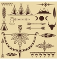 set american indians objects vector image vector image